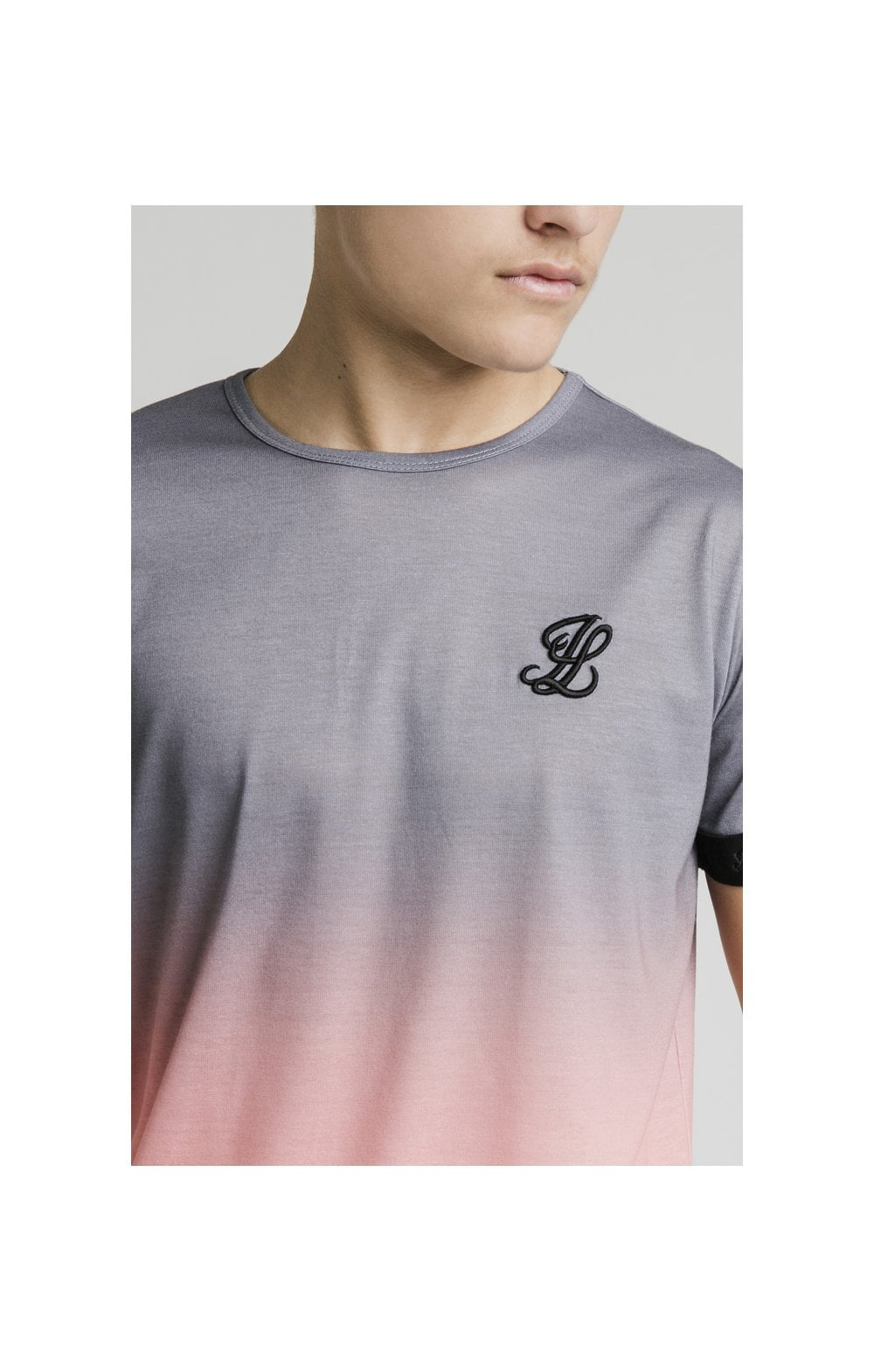 Load image into Gallery viewer, Illusive London Fade Tech Tee - Grey & Peach (1)