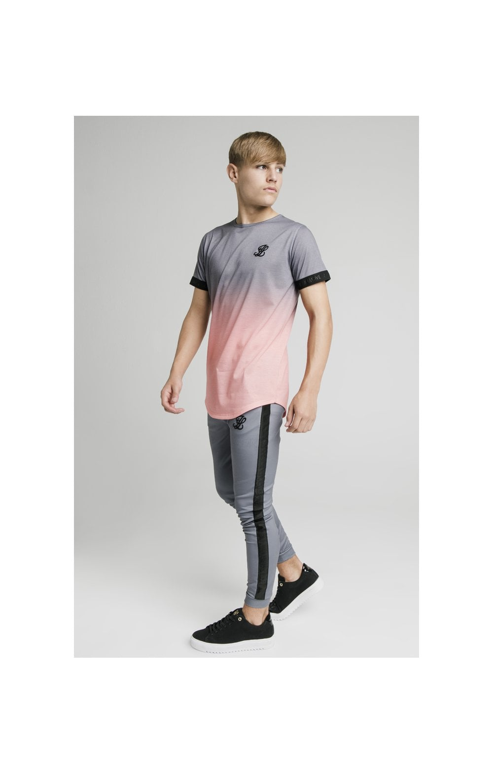 Load image into Gallery viewer, Illusive London Fade Tech Tee - Grey & Peach (3)