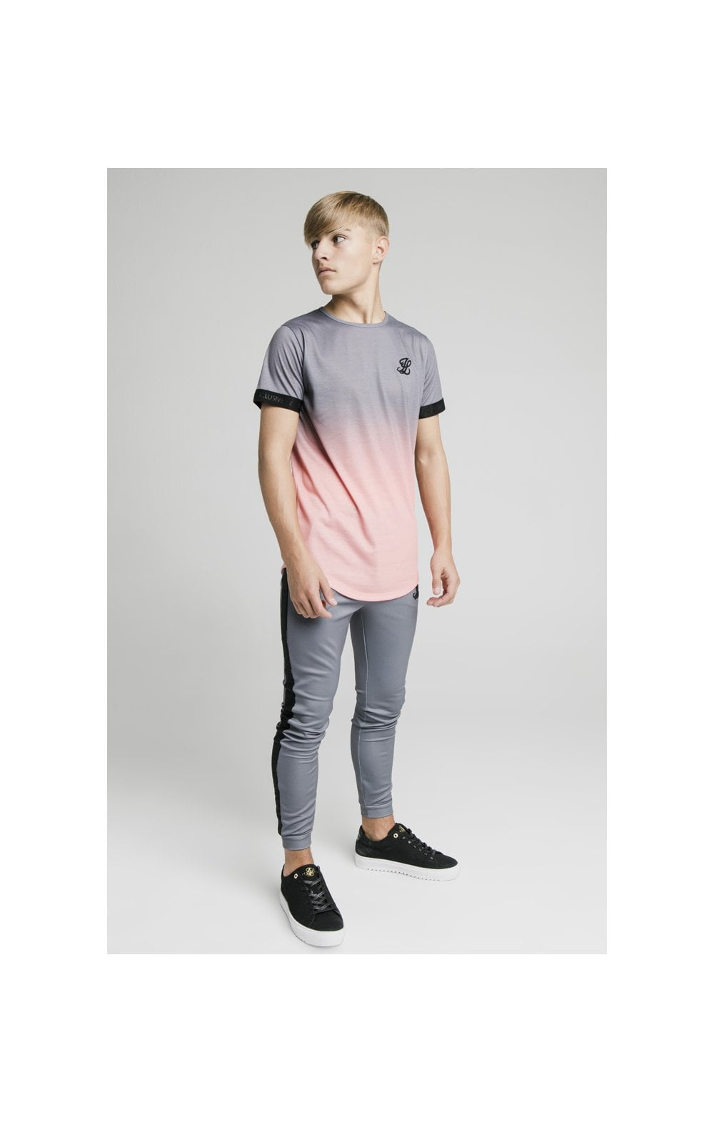 Load image into Gallery viewer, Illusive London Fade Tech Tee - Grey & Peach (4)