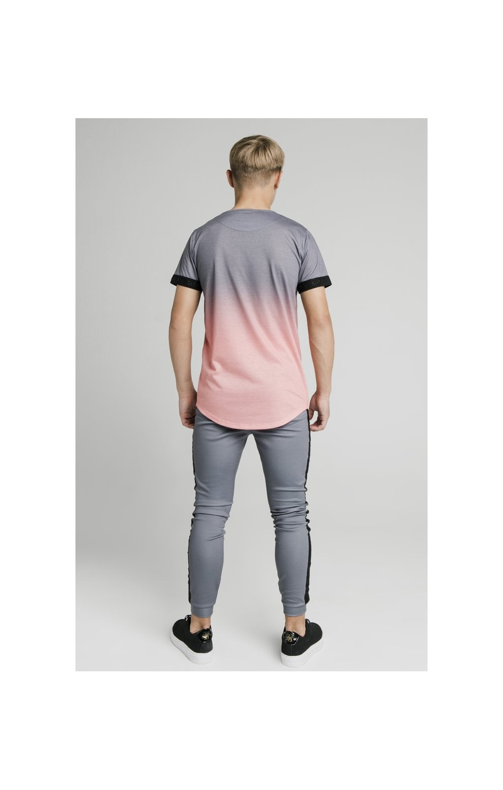 Load image into Gallery viewer, Illusive London Fade Tech Tee - Grey & Peach (5)
