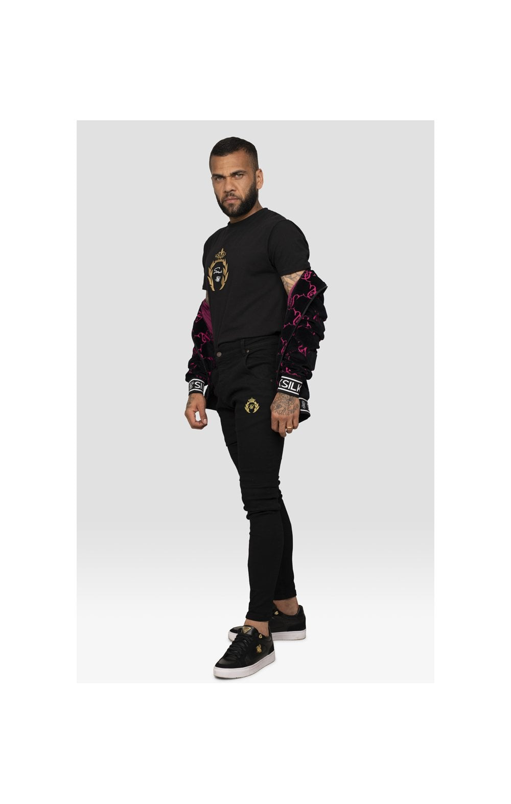 Load image into Gallery viewer, SikSilk x Dani Alves Low Rise Prestige Denims - Black