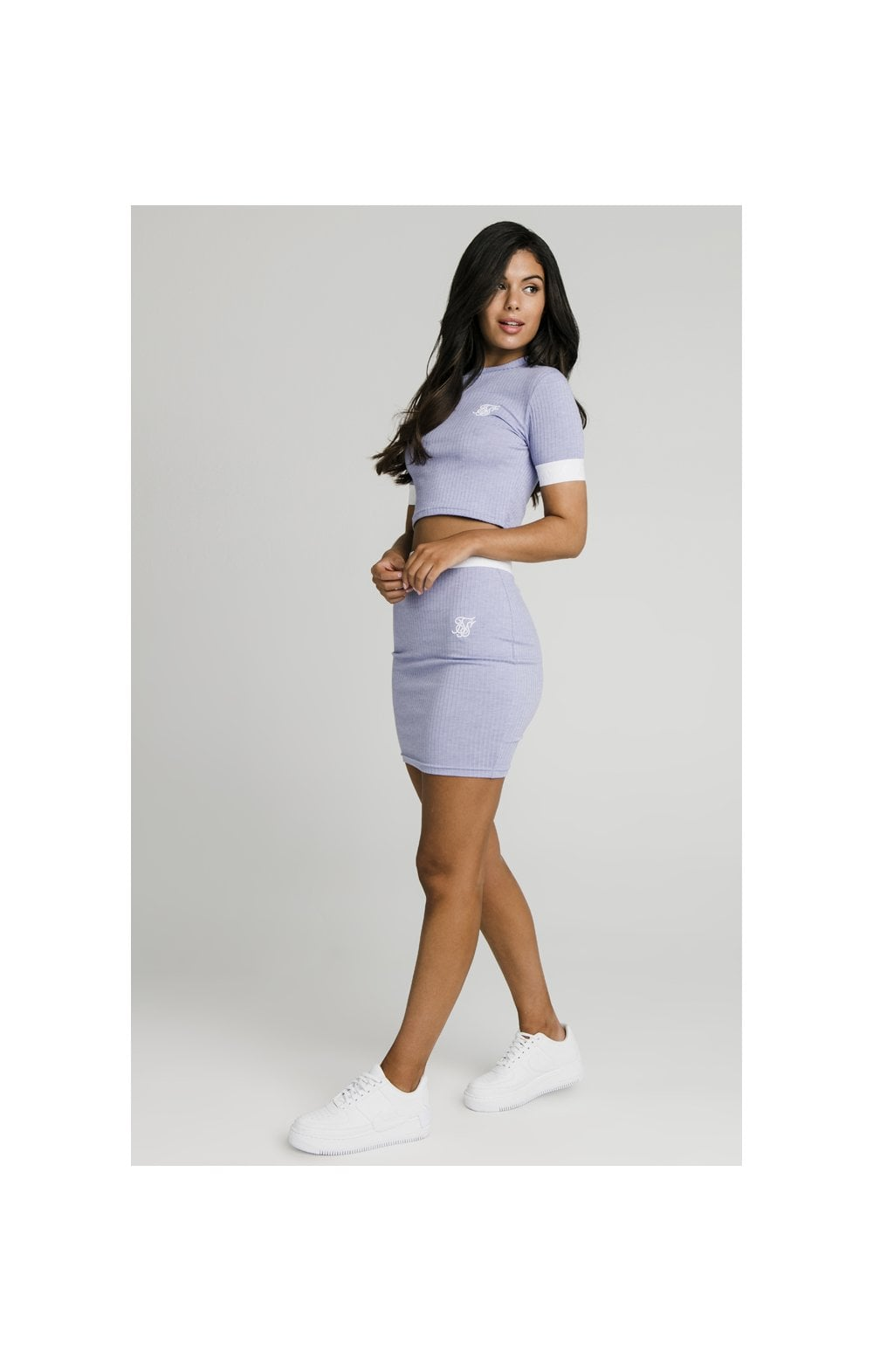 Load image into Gallery viewer, SikSillk Rib Tube Skirt - Violet (2)