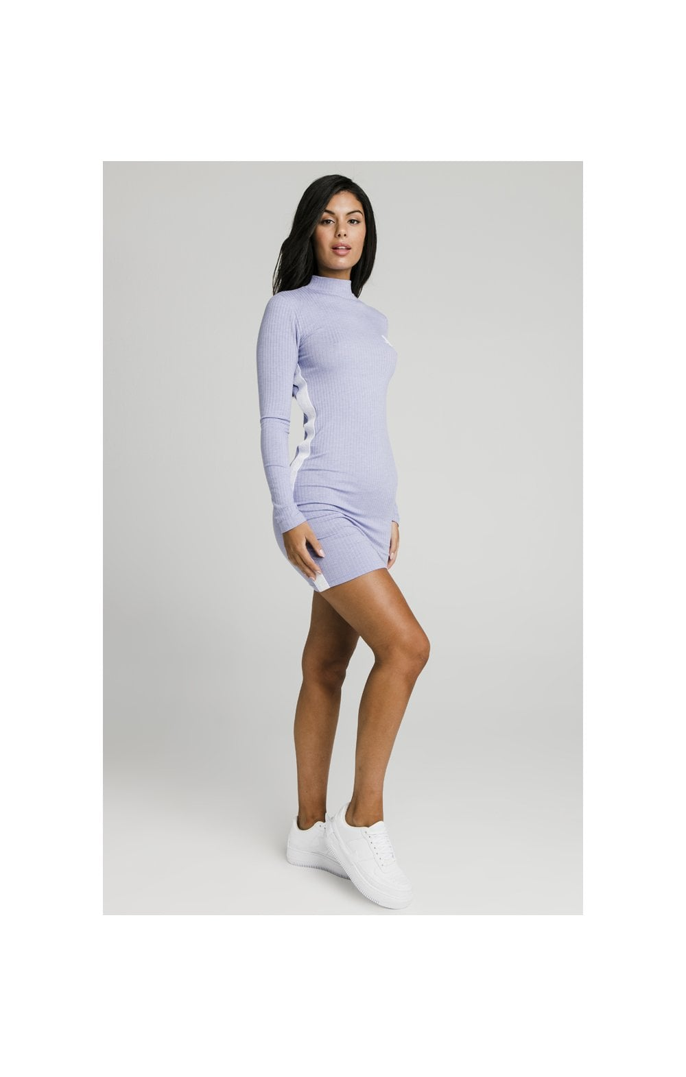 Load image into Gallery viewer, SikSilk Violet Rib Bodycon Dress - Violet (4)