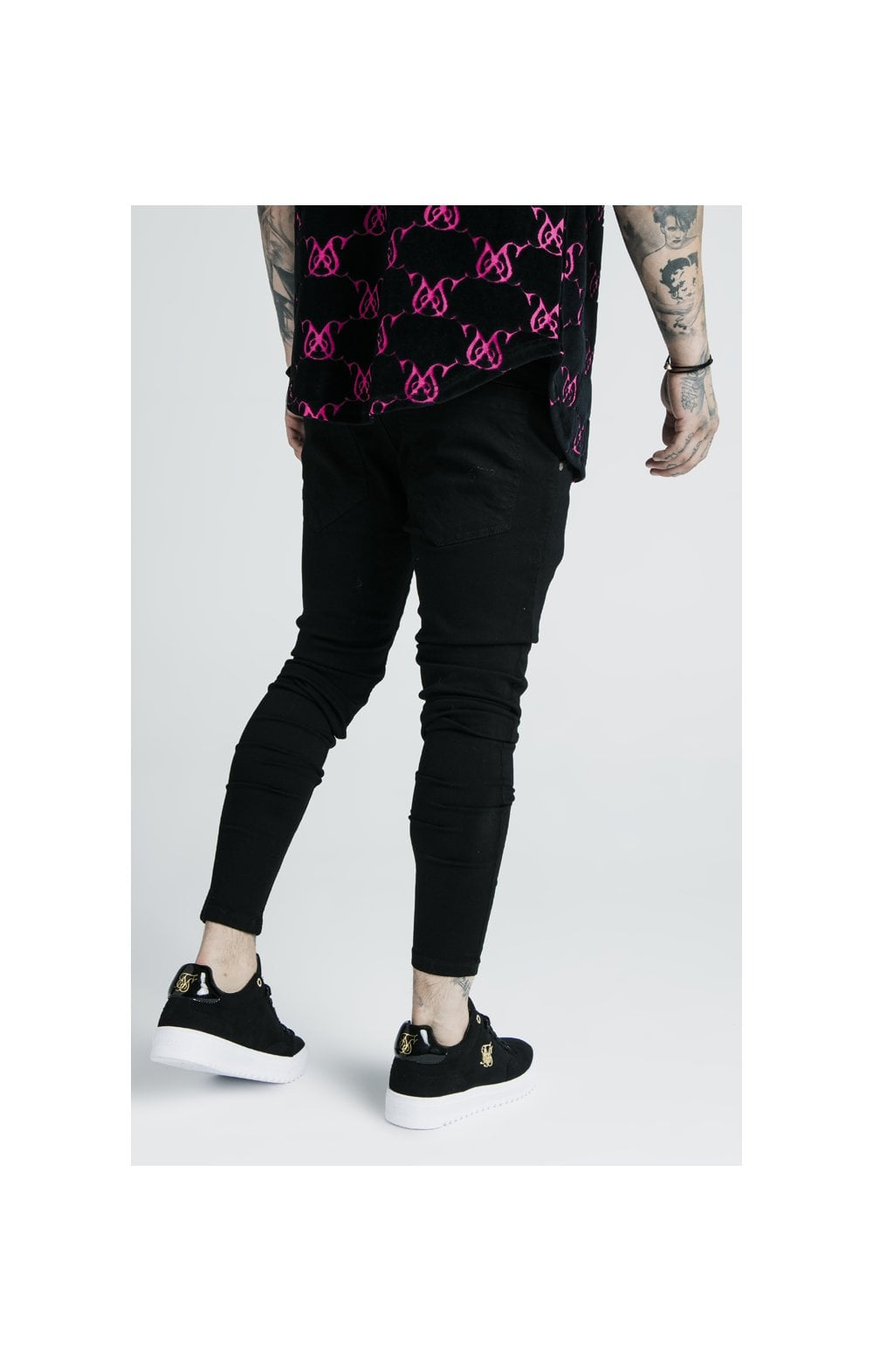 Load image into Gallery viewer, SikSilk x Dani Alves Low Rise Prestige Denims - Black (3)