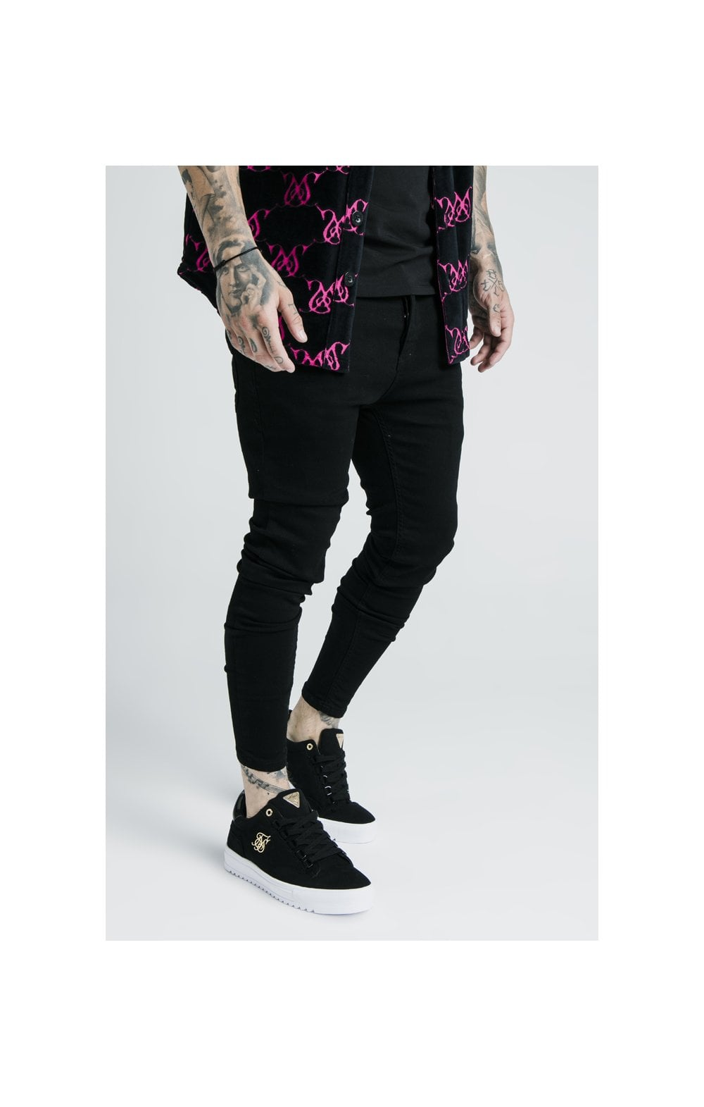 Load image into Gallery viewer, SikSilk x Dani Alves Low Rise Prestige Denims - Black (4)