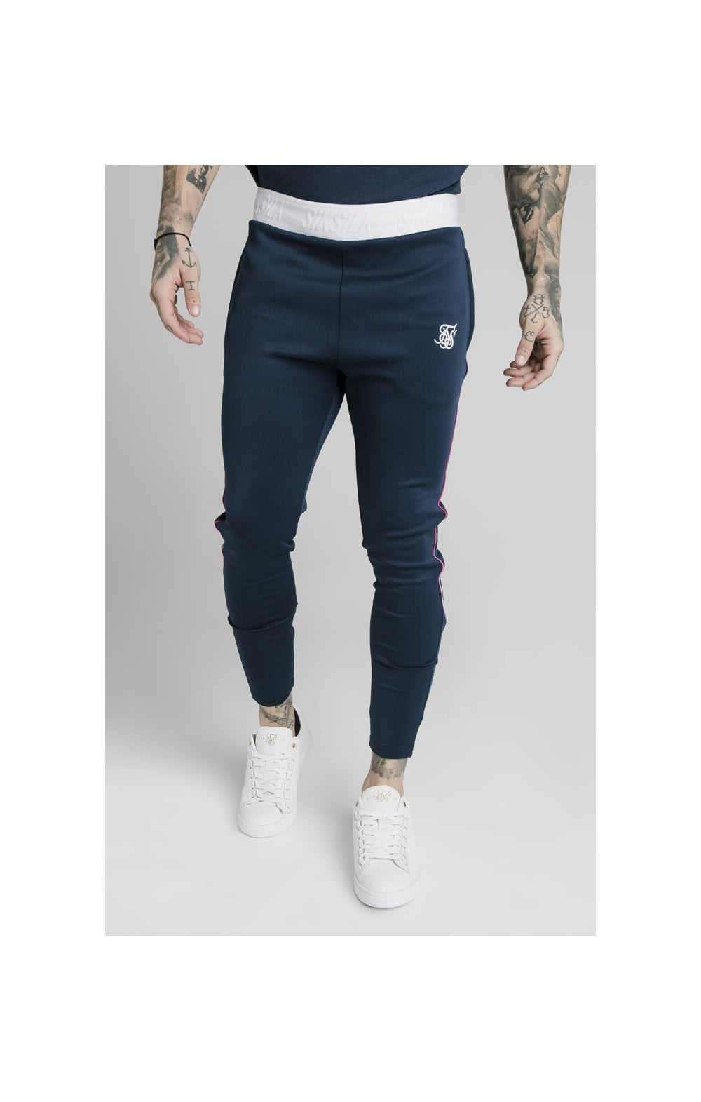 Load image into Gallery viewer, SikSilk Athlete Prestige Fade Track Pants - Navy