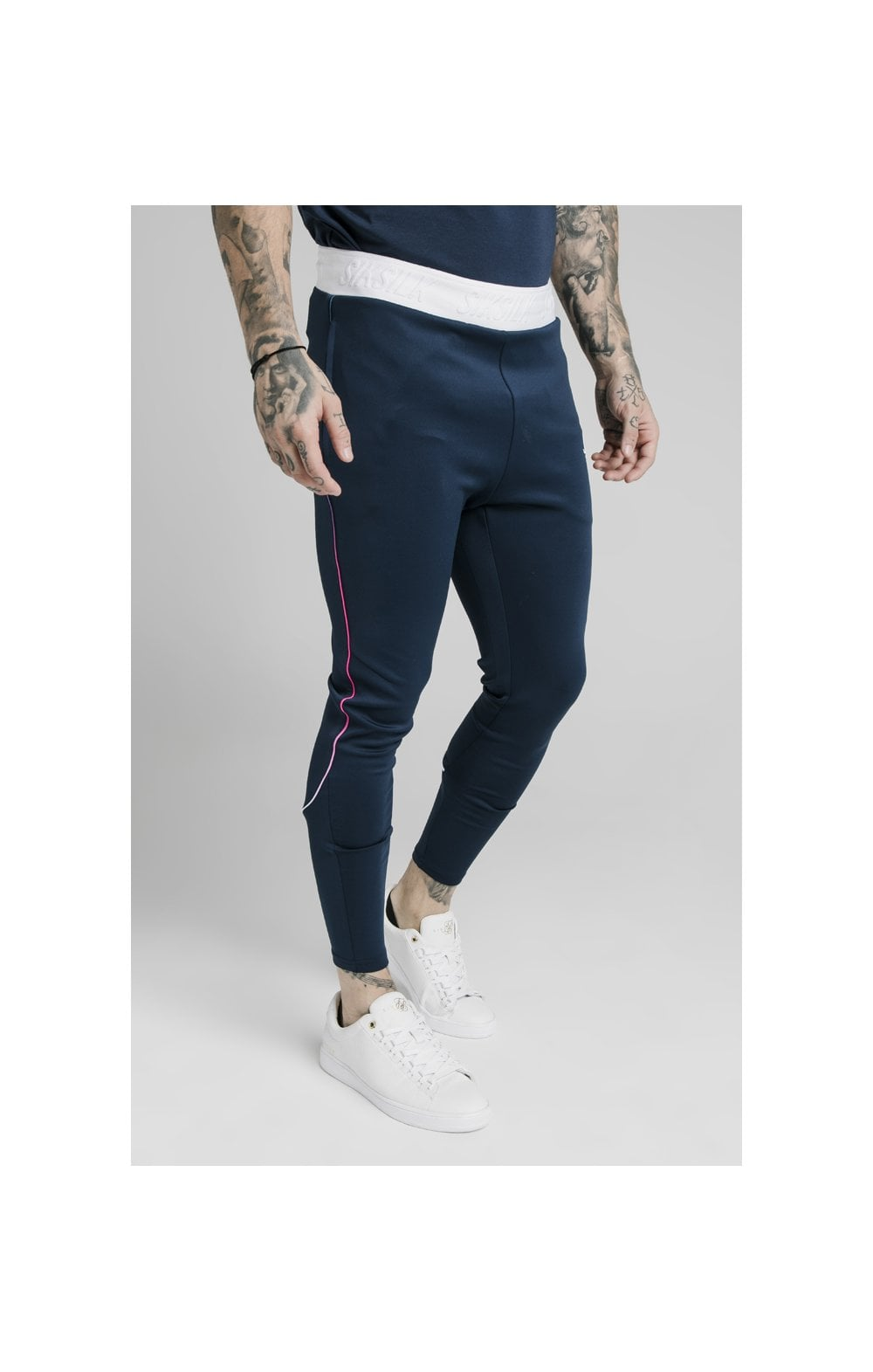 Load image into Gallery viewer, SikSilk Athlete Prestige Fade Track Pants - Navy (1)
