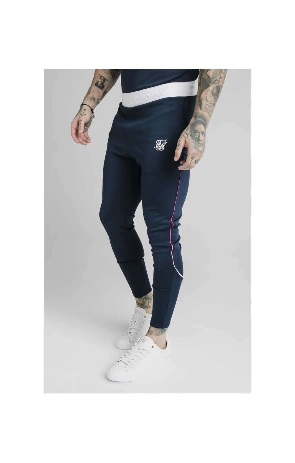 Load image into Gallery viewer, SikSilk Athlete Prestige Fade Track Pants - Navy (2)