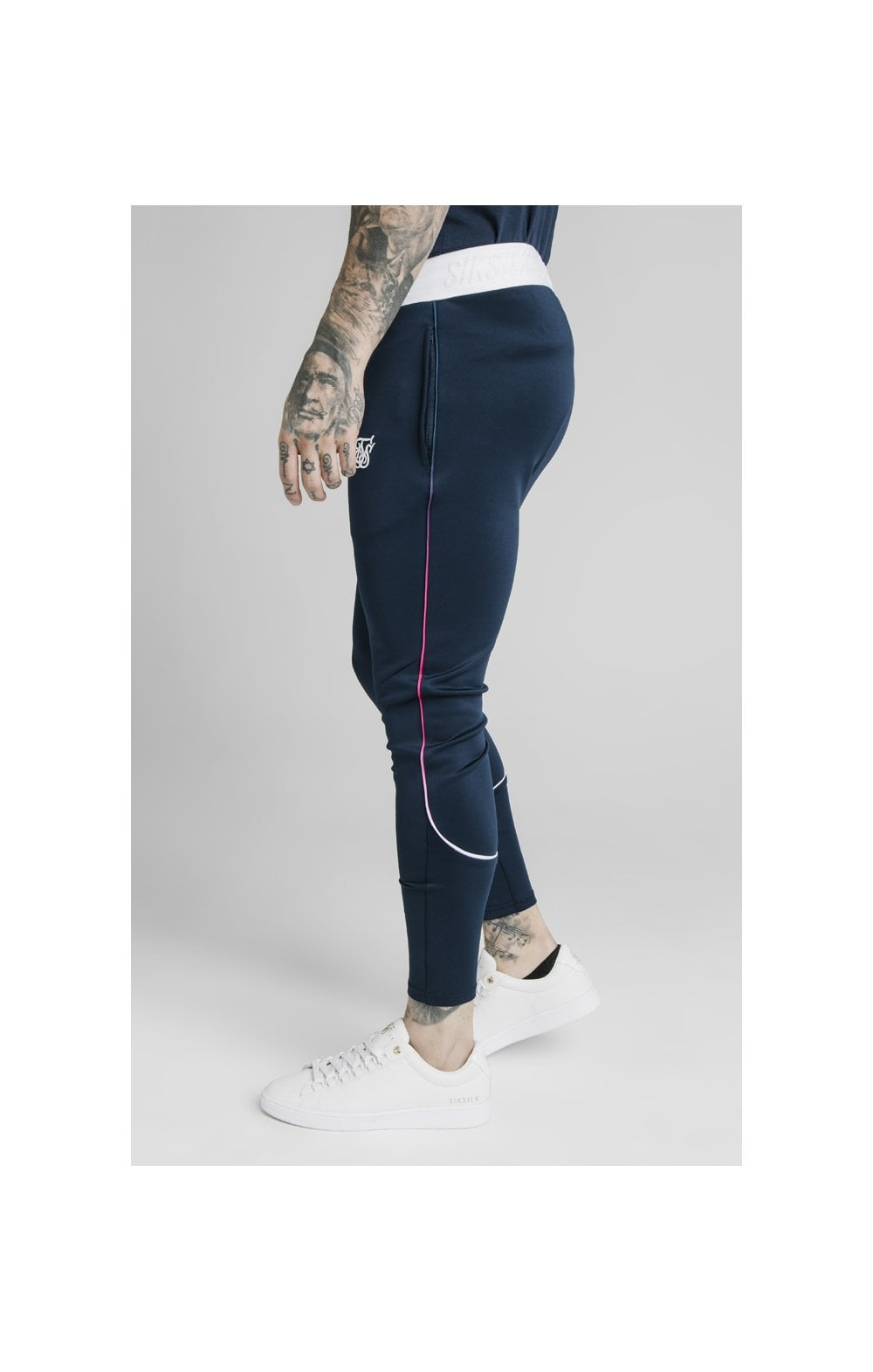 Load image into Gallery viewer, SikSilk Athlete Prestige Fade Track Pants - Navy (3)