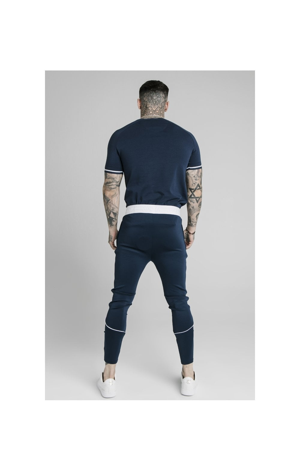 Load image into Gallery viewer, SikSilk Athlete Prestige Fade Track Pants - Navy (6)