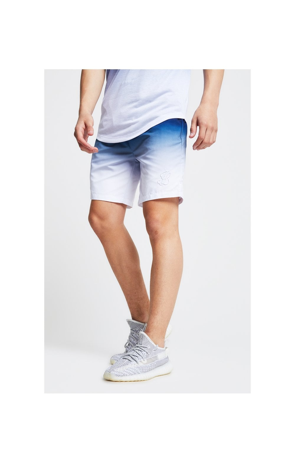 Load image into Gallery viewer, Illusive London Fade Swim Shorts - Navy & White