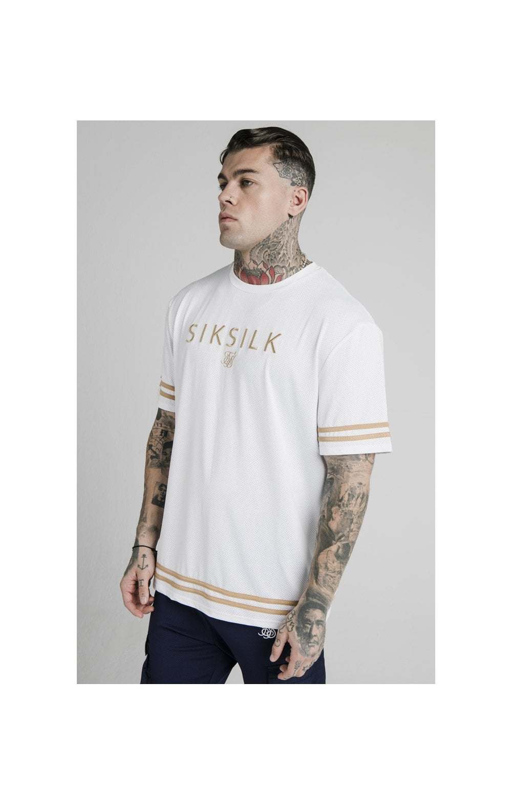 SikSilk S/S Essential Tee - White