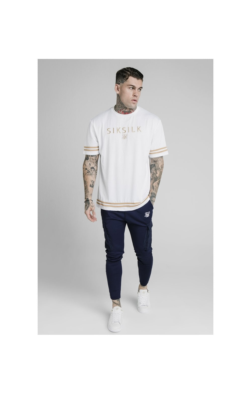 SikSilk S/S Essential Tee - White (2)