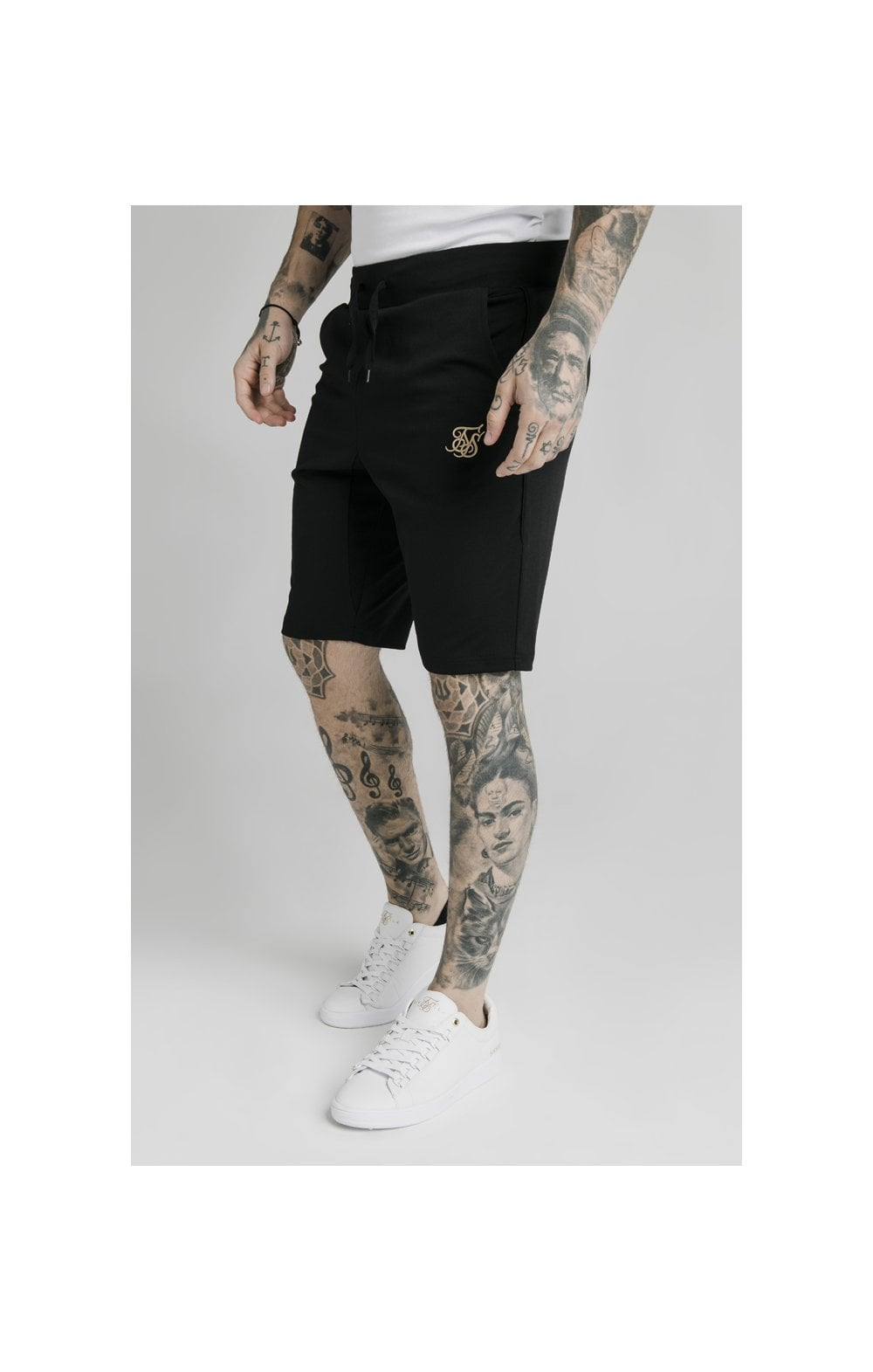 SikSilk Scope Zonal Shorts - Black & Gold (1)