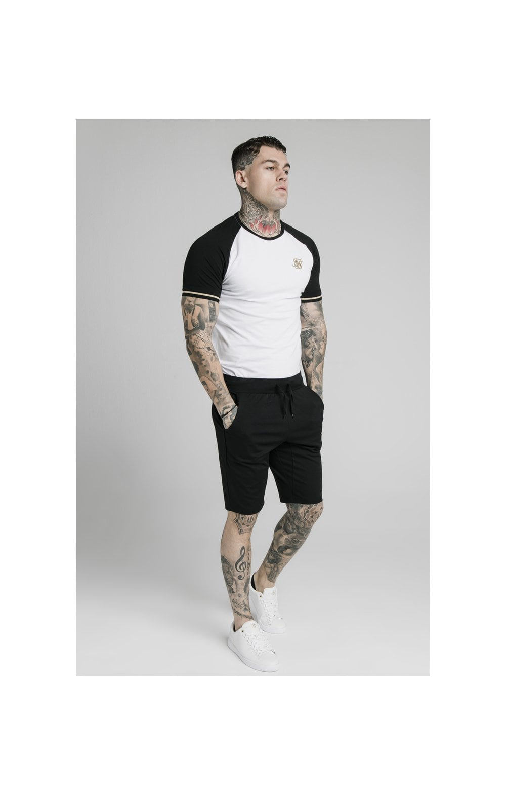 SikSilk Scope Zonal Shorts - Black & Gold (4)