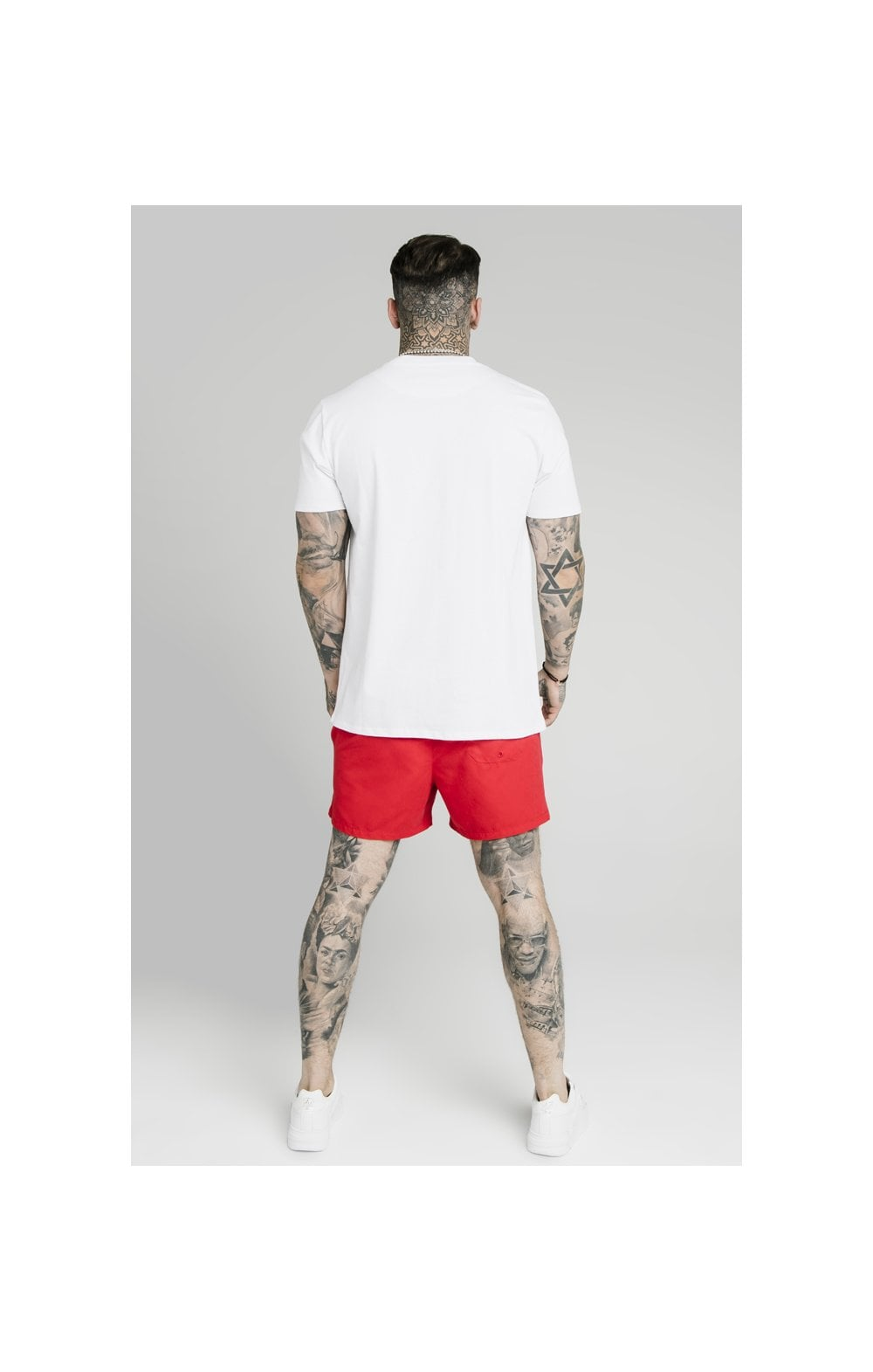 Load image into Gallery viewer, SikSilk Piping Swim Shorts – Red (6)