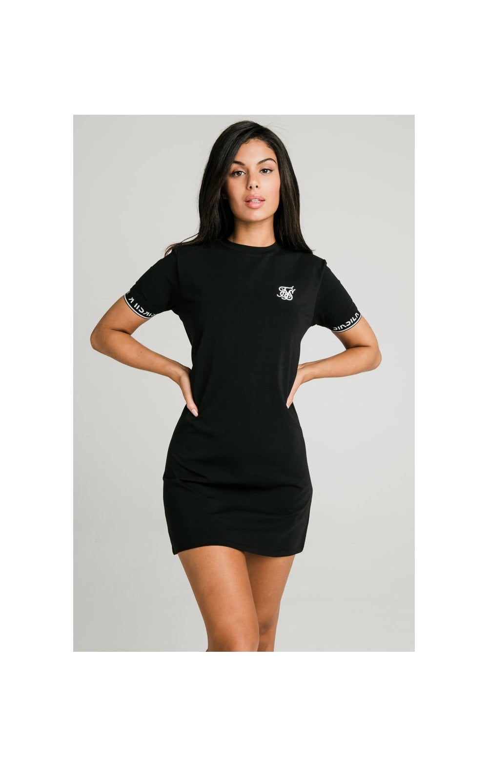 SikSilk Core Tech T-Shirt Dress Black
