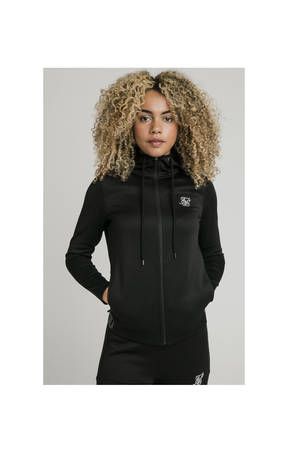 SikSilk Gym Track Jacket - Black (1)