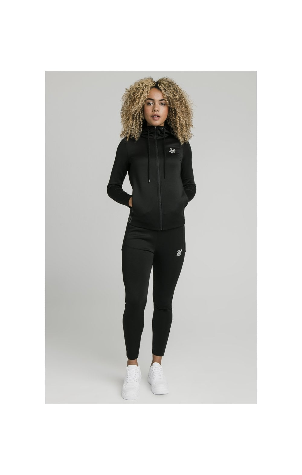 SikSilk Gym Track Jacket - Black (3)