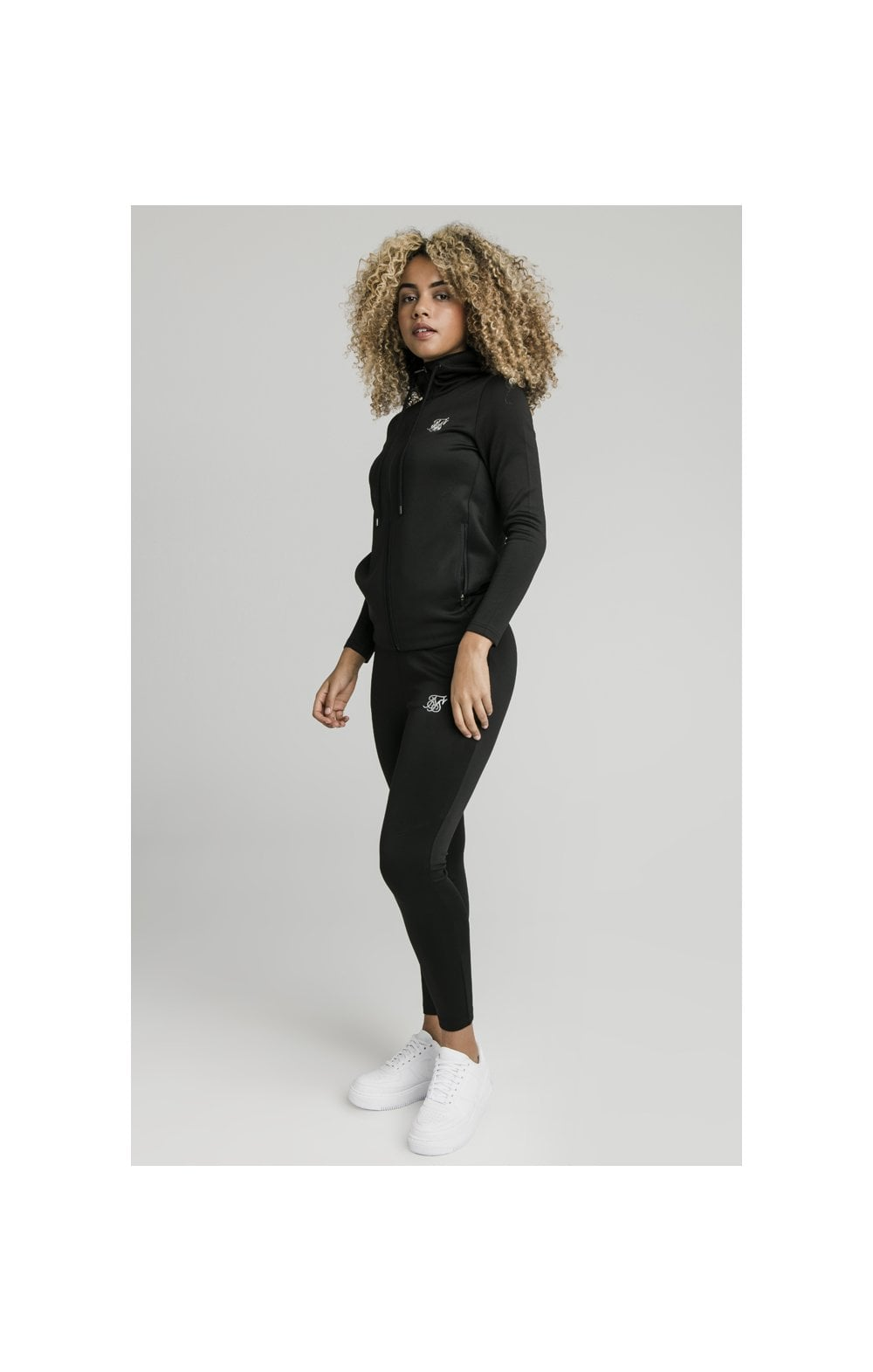 SikSilk Gym Track Jacket - Black (4)