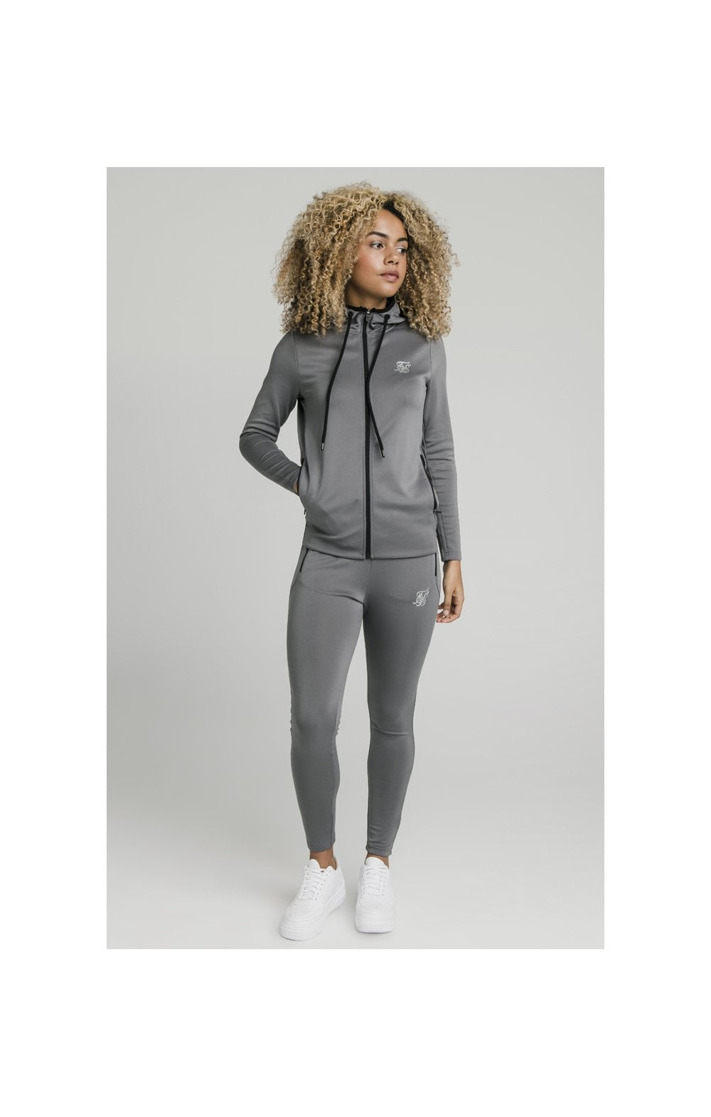 SikSilk Gym Track Jacket - Grey (3)