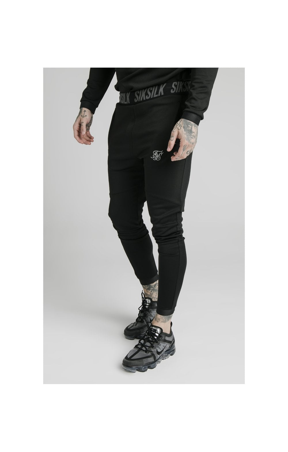 SikSilk Agility Active Track Pants - Black