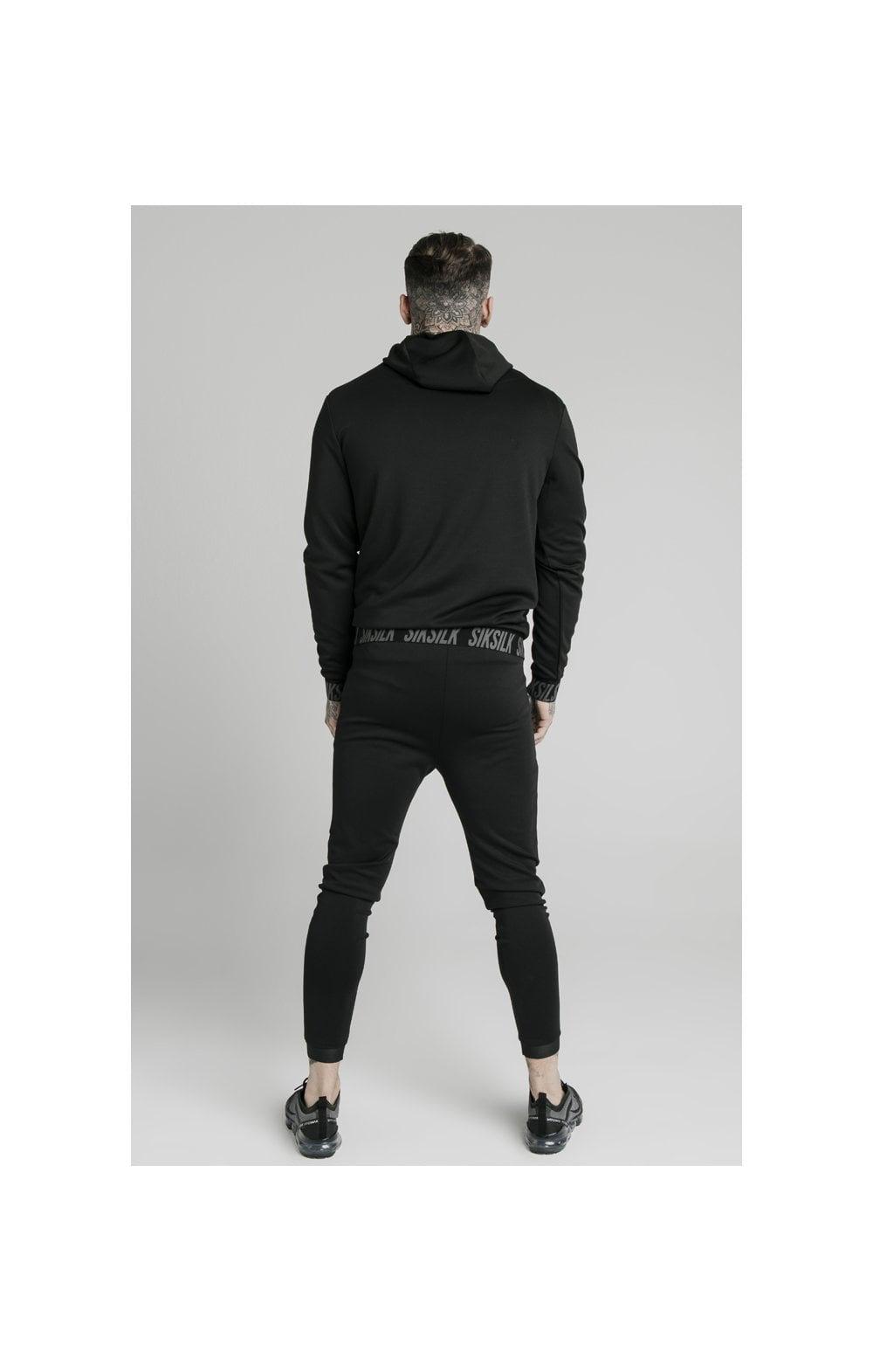 SikSilk Active Muscle Fit Overhead Hoodie - Black (5)