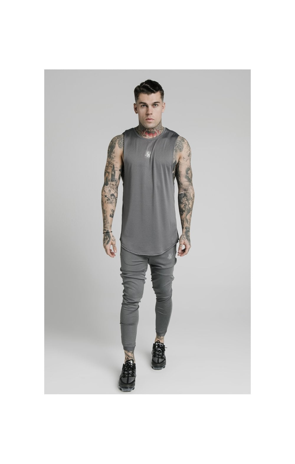 SikSilk Active Poly Sports Vest - Grey (2)