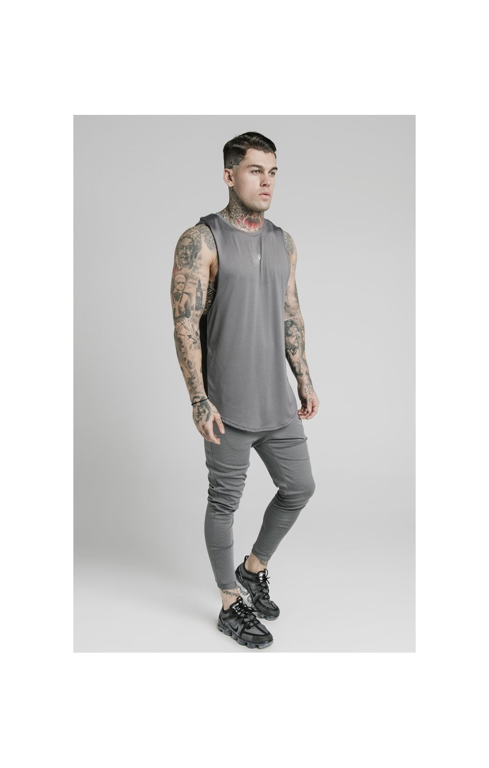 SikSilk Active Poly Sports Vest - Grey (3)