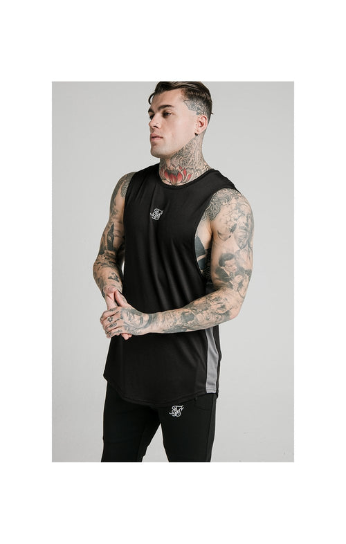 SikSilk Active Poly Sports Vest - Black