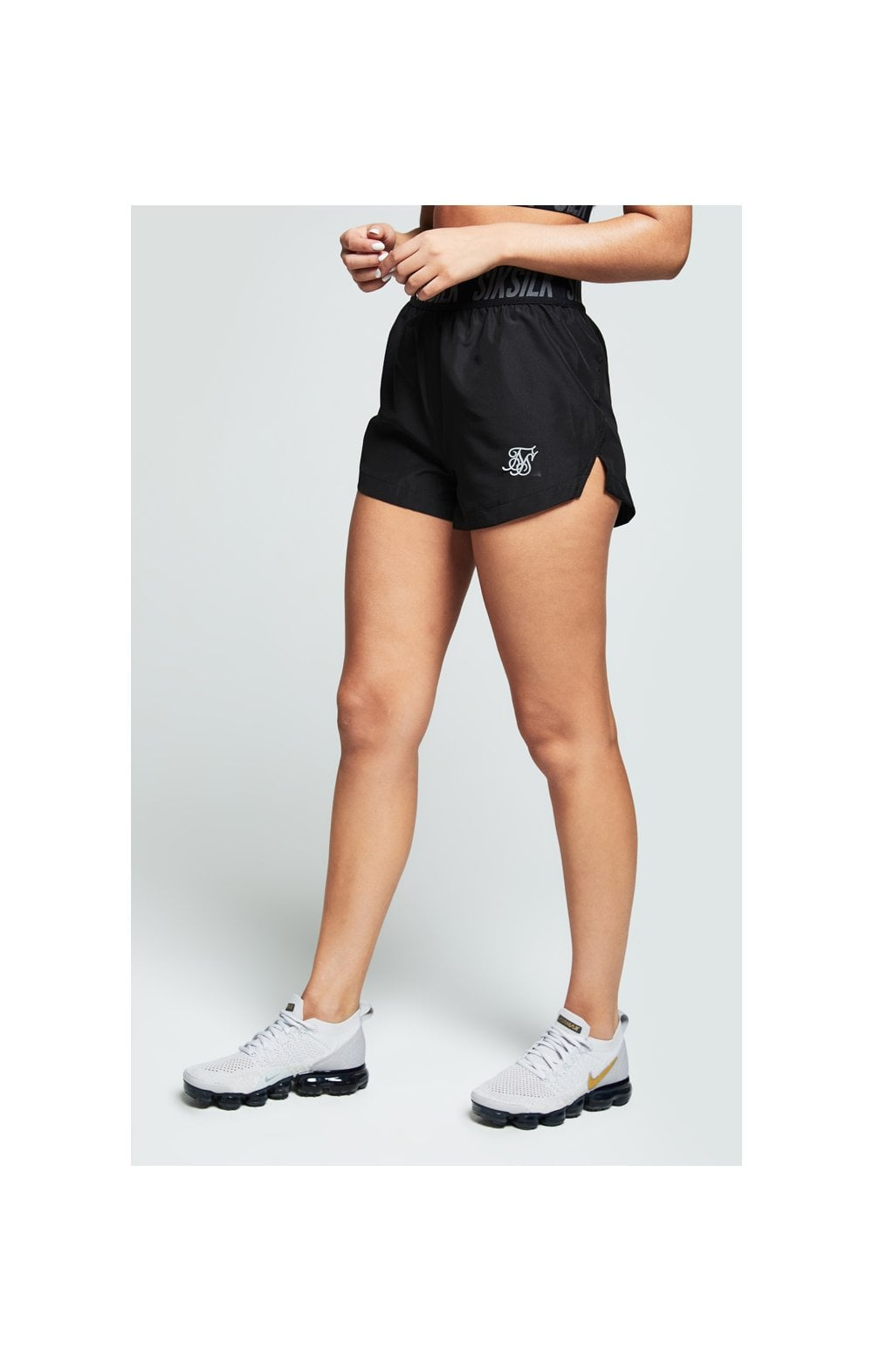 Load image into Gallery viewer, SikSilk Tape Gym Runner Shorts Black (3)