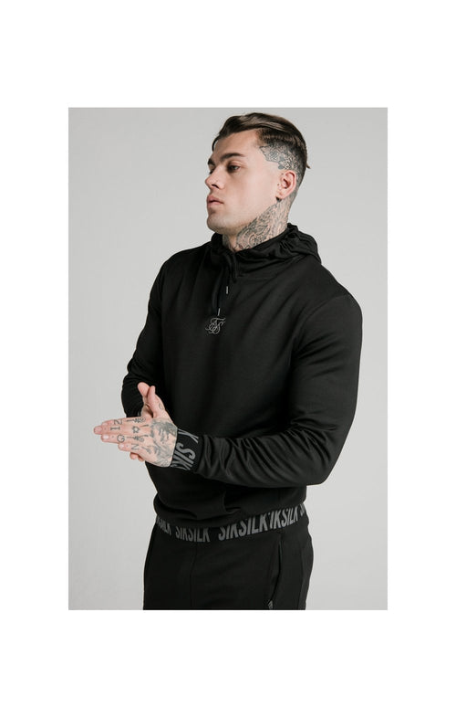 SikSilk Active Muscle Fit Overhead Hoodie - Black