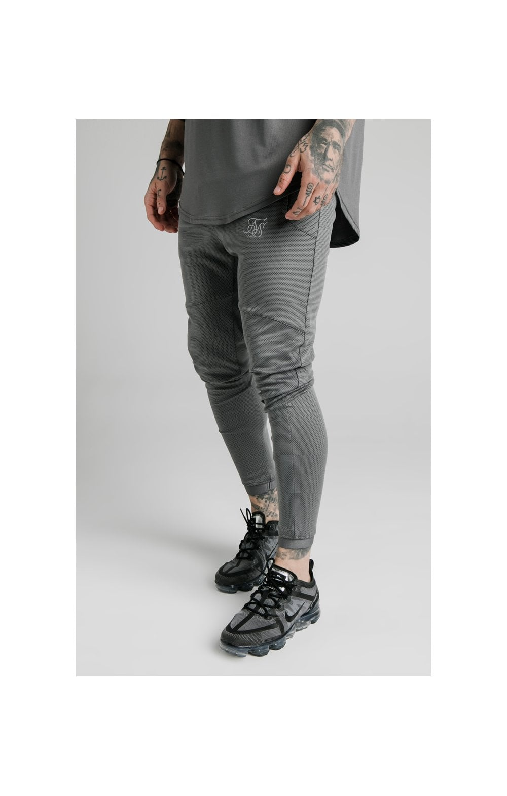 SikSilk Agility Active Track Pants Grey