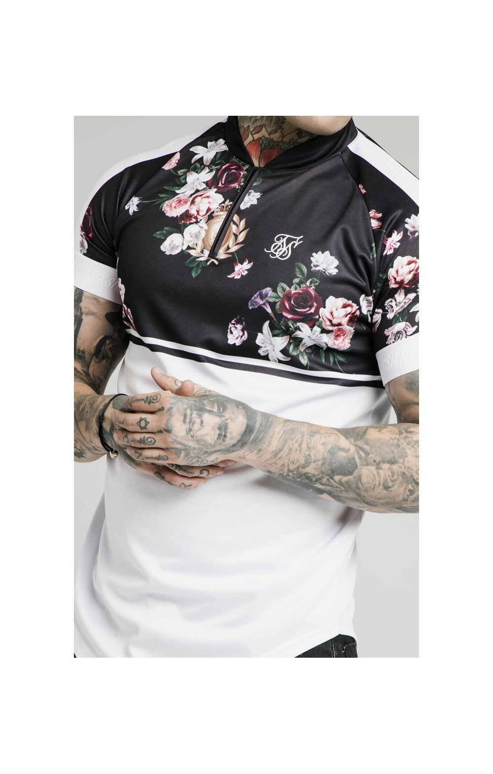 Load image into Gallery viewer, SikSilk Pinstripe Baseball Tee – Navy (1)