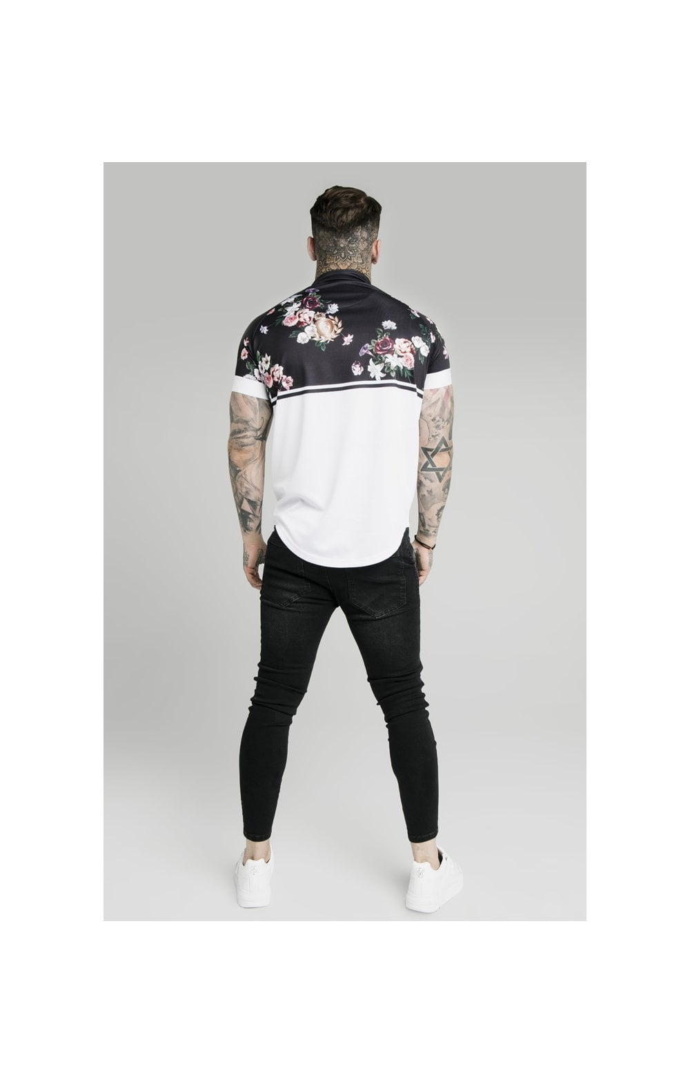 Load image into Gallery viewer, SikSilk Pinstripe Baseball Tee – Navy (4)