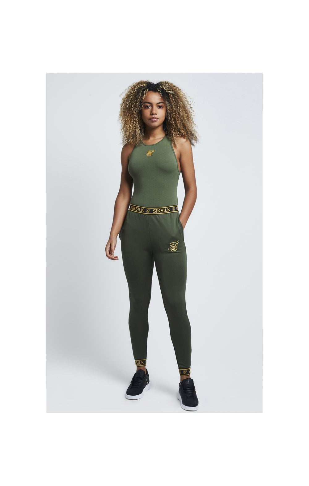SikSilk Tape Strap Bodysuit – Bronze Green (3)