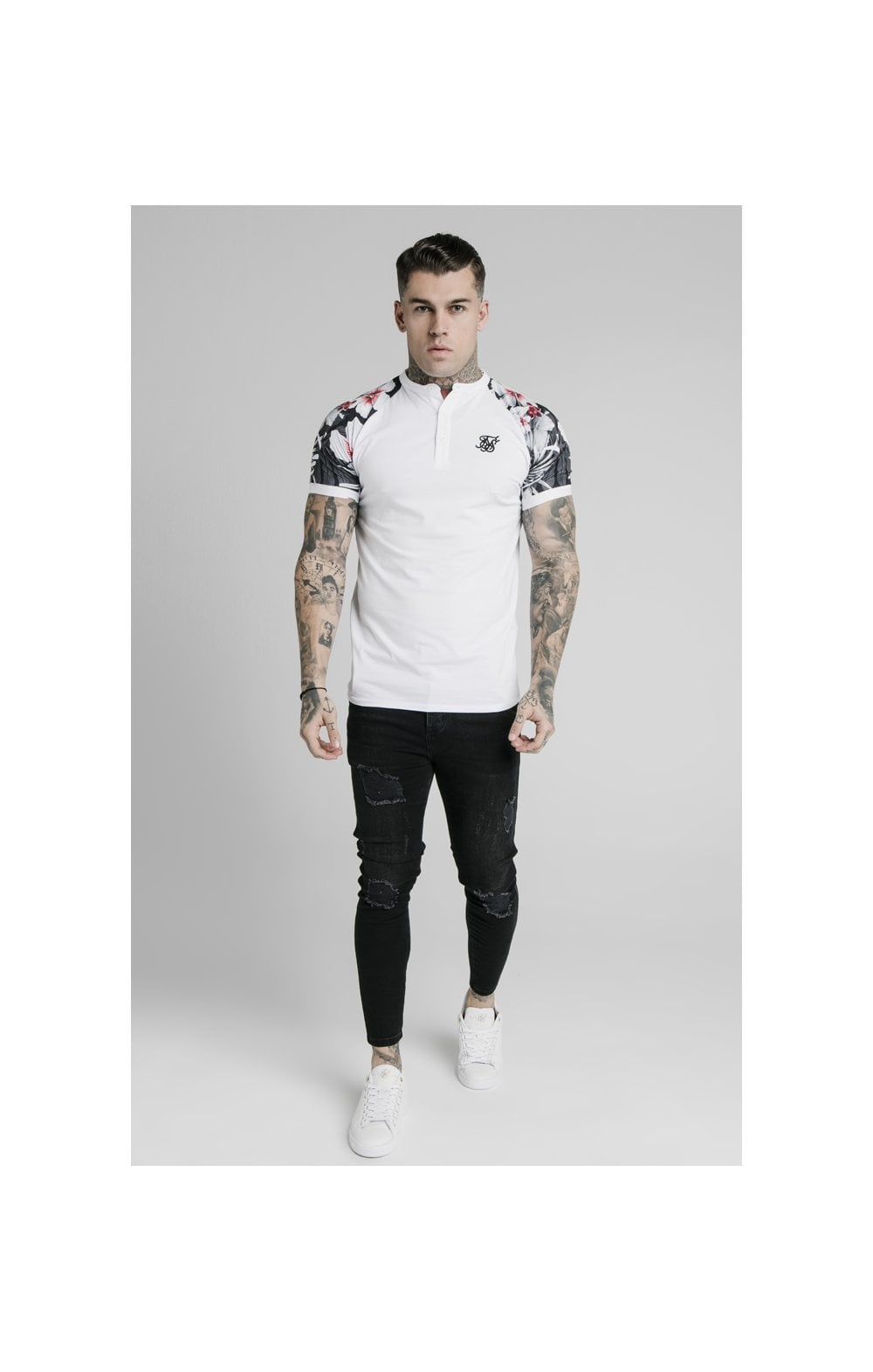 Load image into Gallery viewer, SikSilk S/S Tech Polo - White (1)