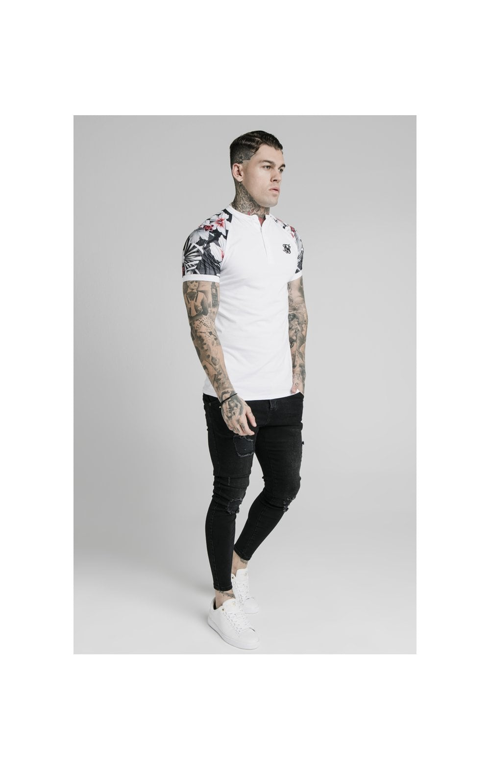 Load image into Gallery viewer, SikSilk S/S Tech Polo - White (2)