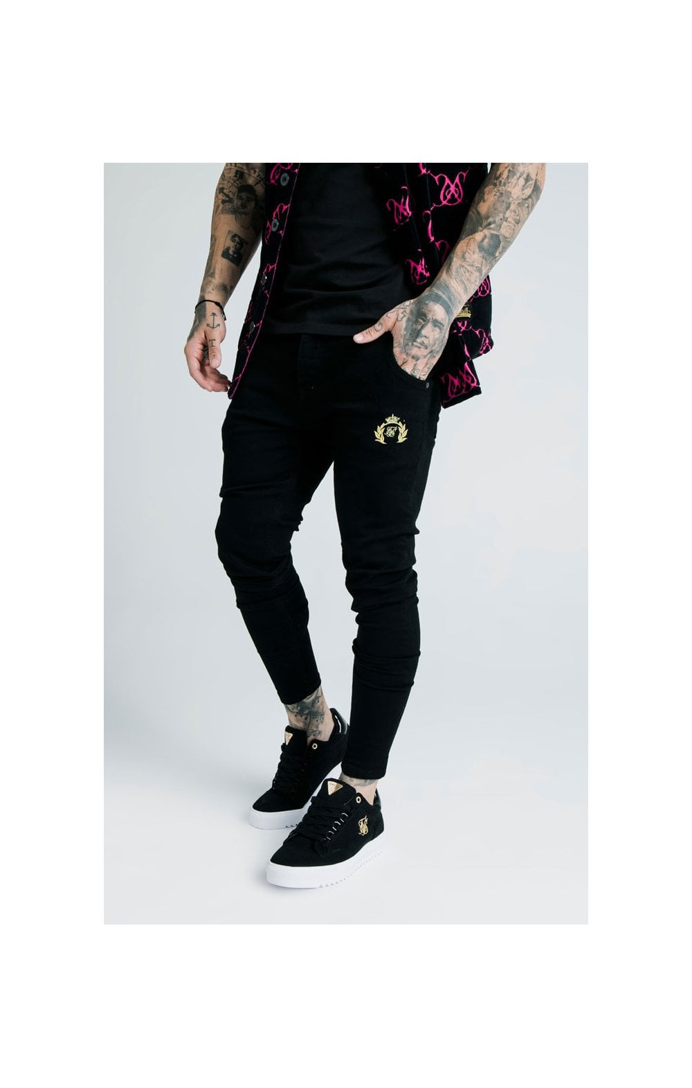 Load image into Gallery viewer, SikSilk x Dani Alves Low Rise Prestige Denims - Black (1)