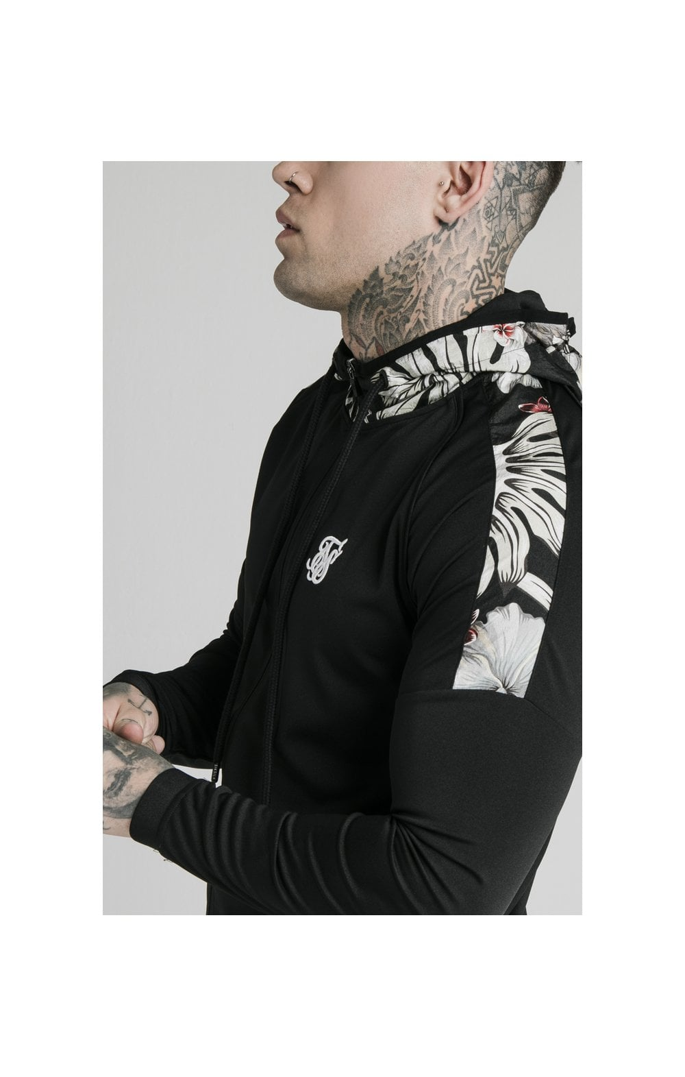 SikSilk Scope Zip Through Hoodie - Black (1)
