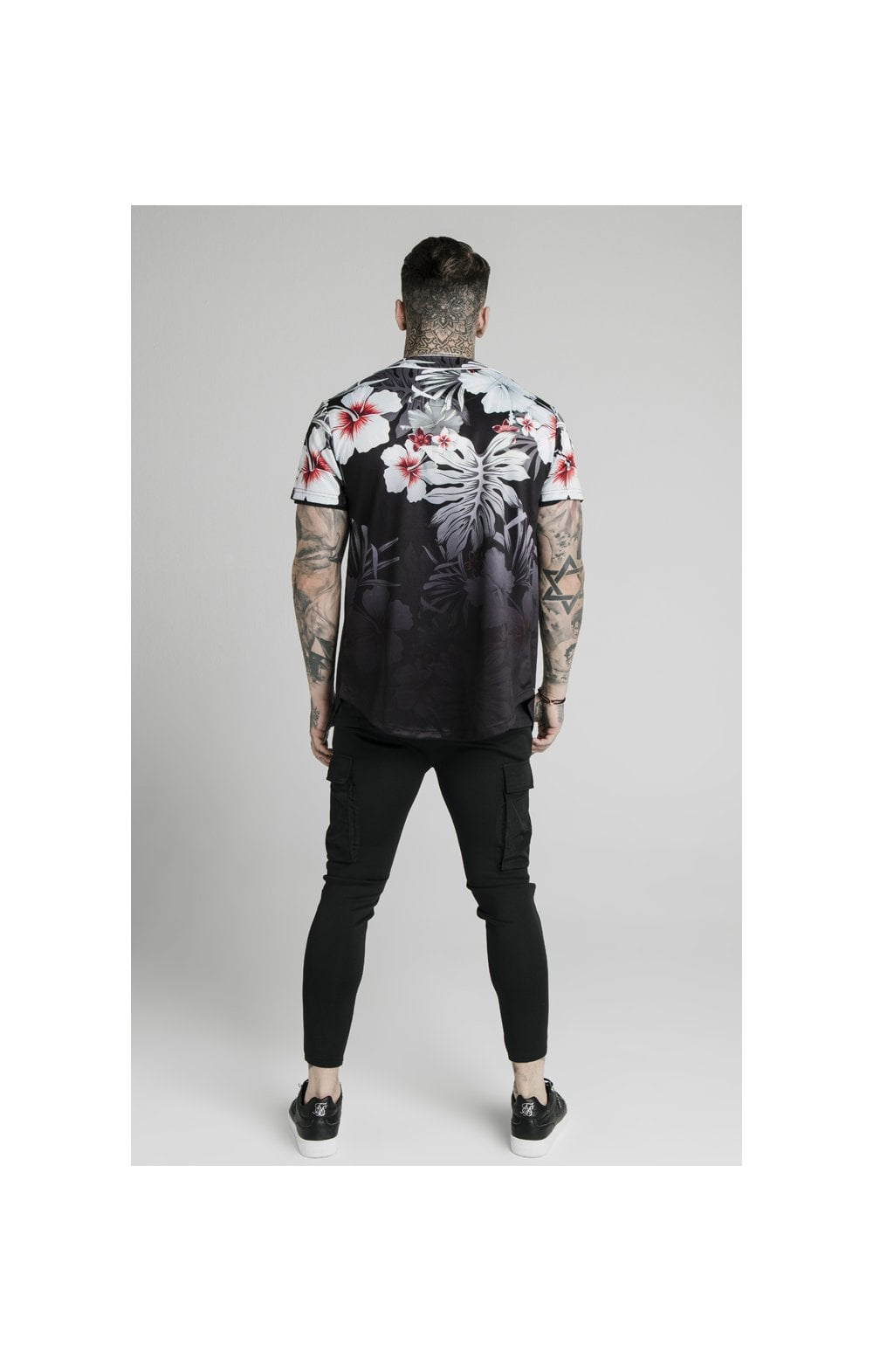 Load image into Gallery viewer, SikSilk Floral Baseball Jersey - Black (4)