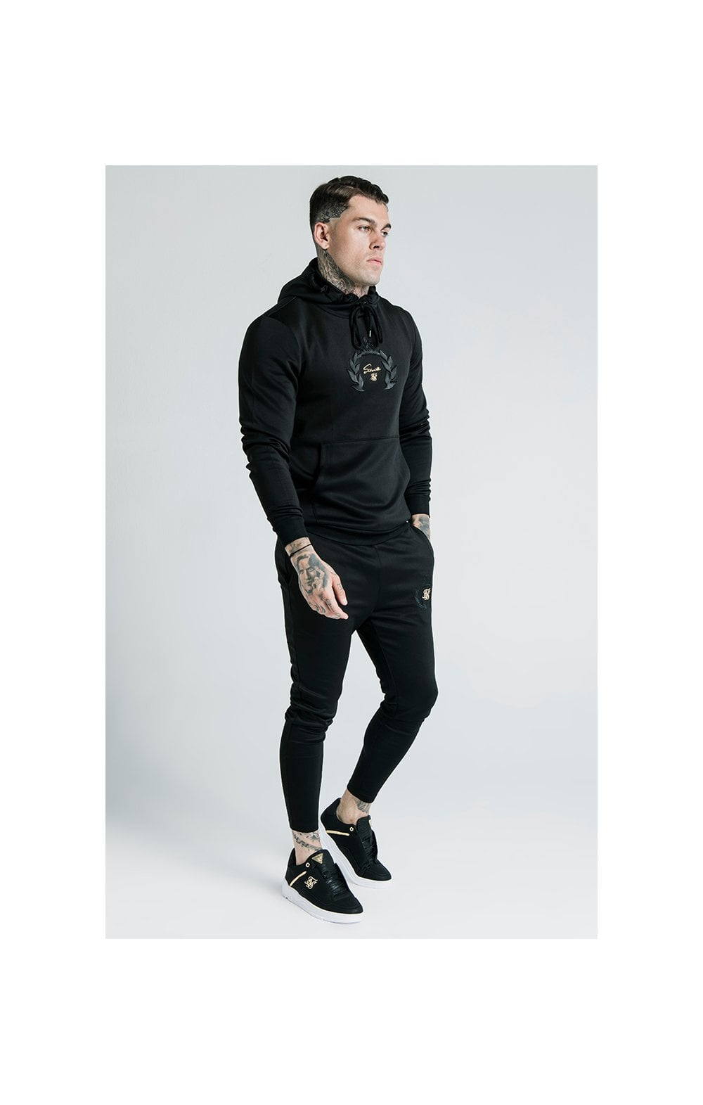 Load image into Gallery viewer, SikSilk x Dani Alves Muscle Fit Overhead Hoodie – Black (1)