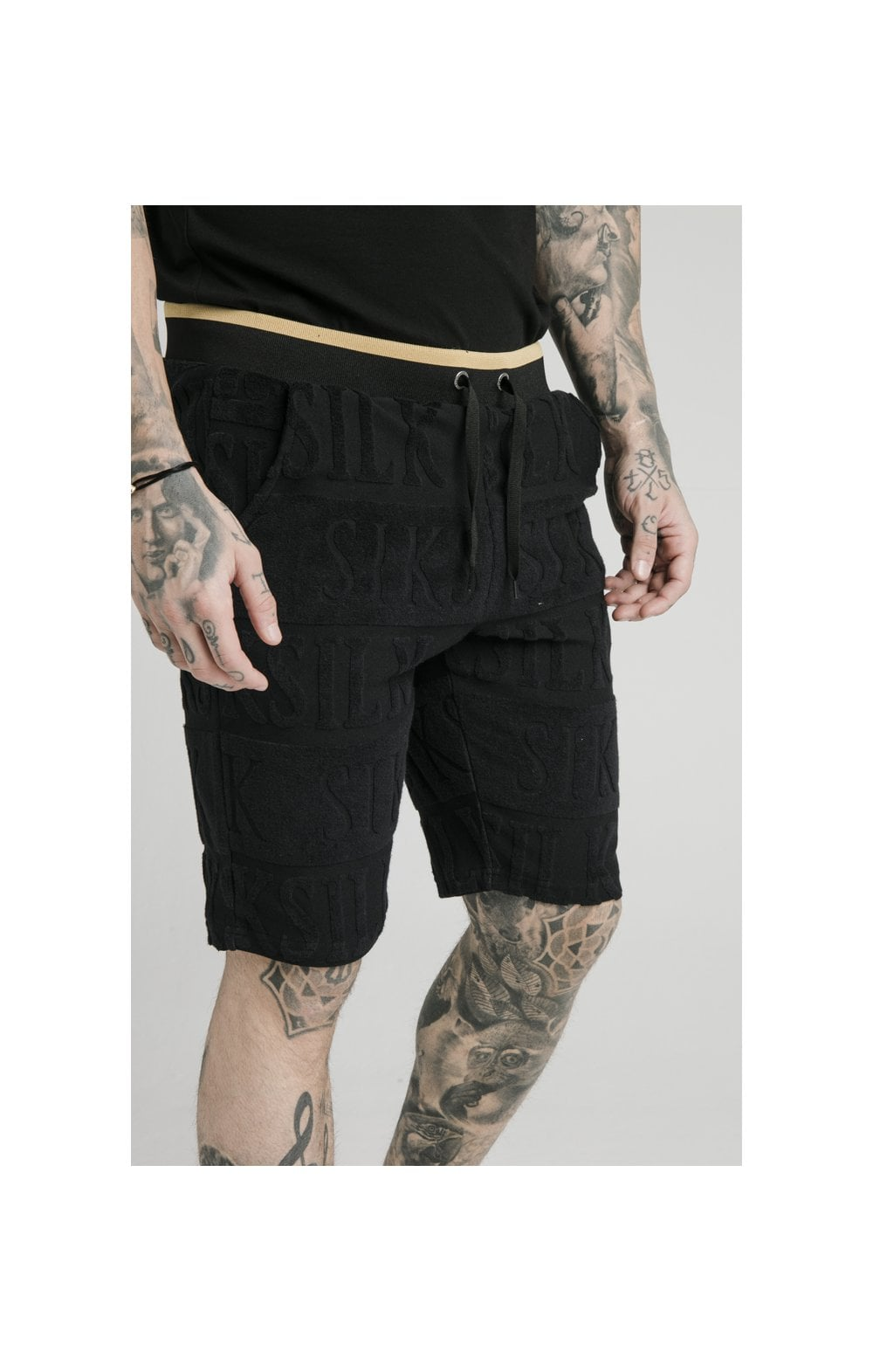 SikSilk Inverse Gym Shorts - Black