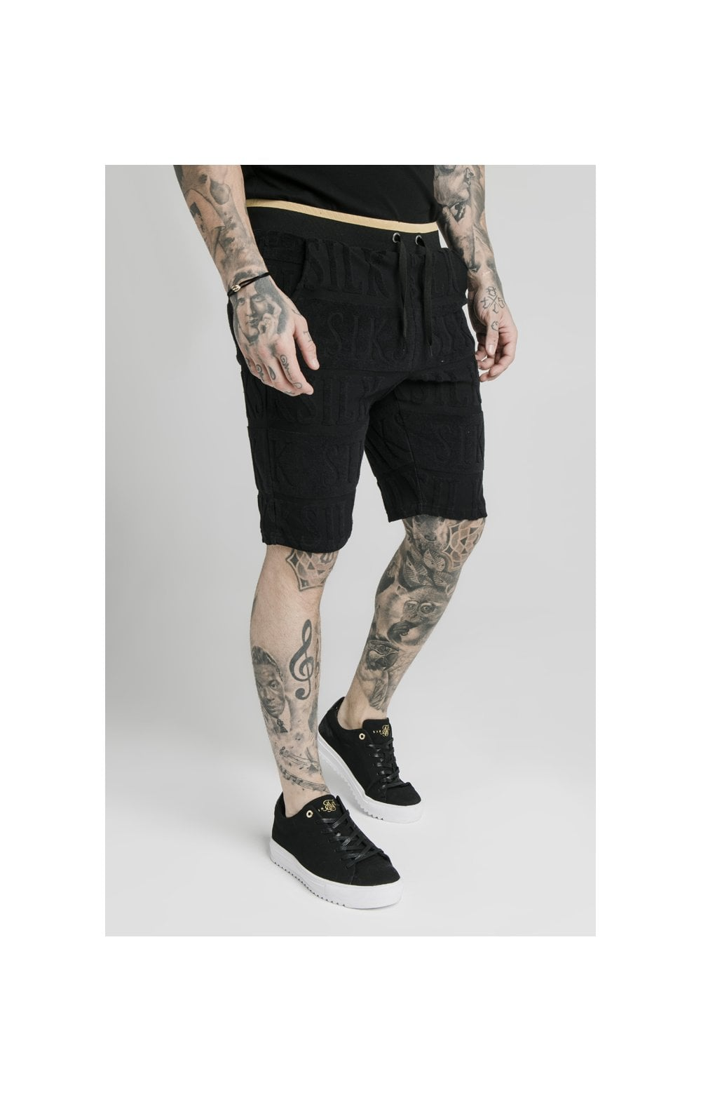 Load image into Gallery viewer, SikSilk Inverse Gym Shorts - Black (4)