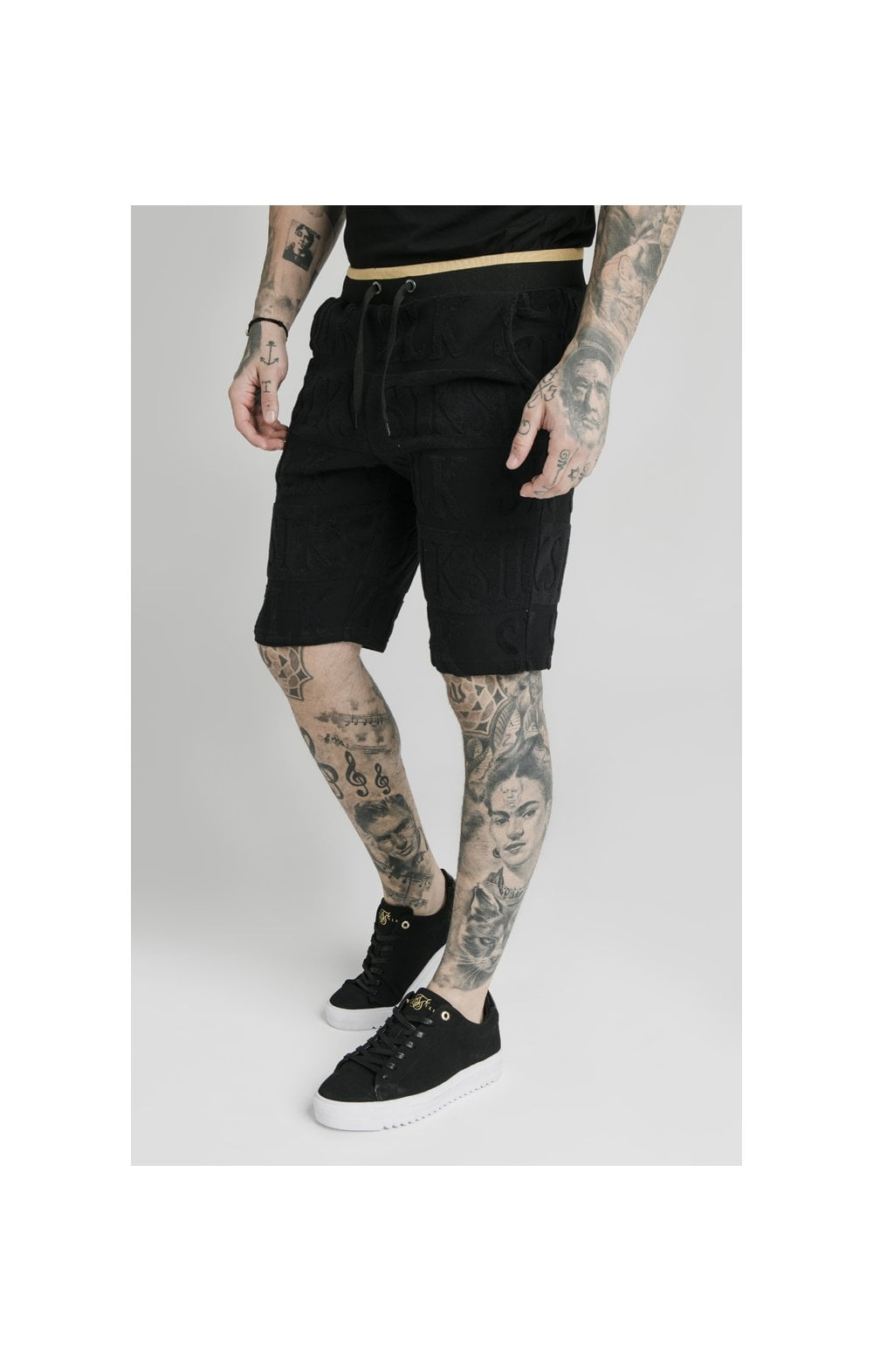 SikSilk Inverse Gym Shorts - Black (1)