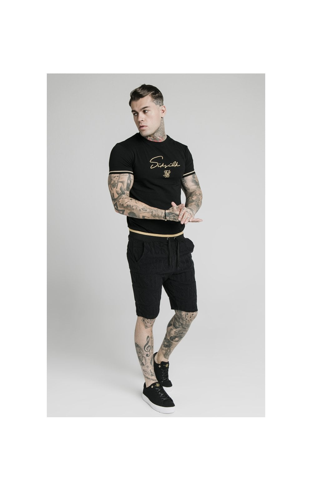 SikSilk Inverse Gym Shorts - Black (5)