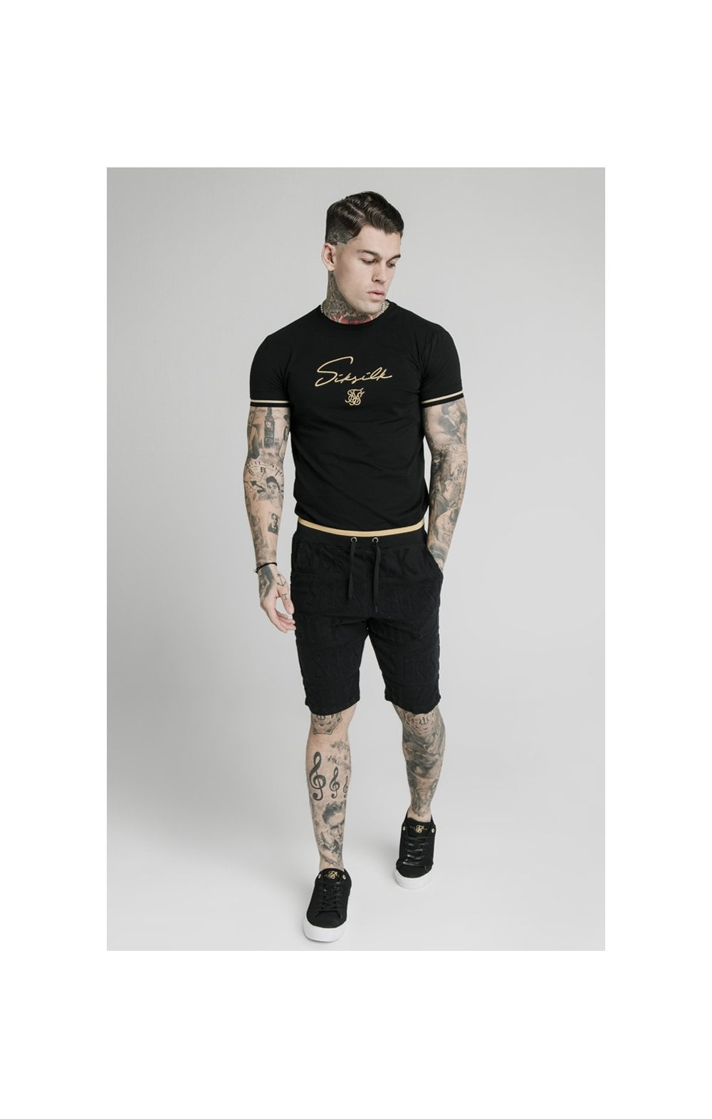 Load image into Gallery viewer, SikSilk Inverse Gym Shorts - Black (6)