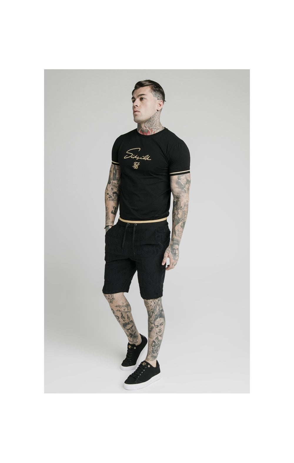 SikSilk Inverse Gym Shorts - Black (7)