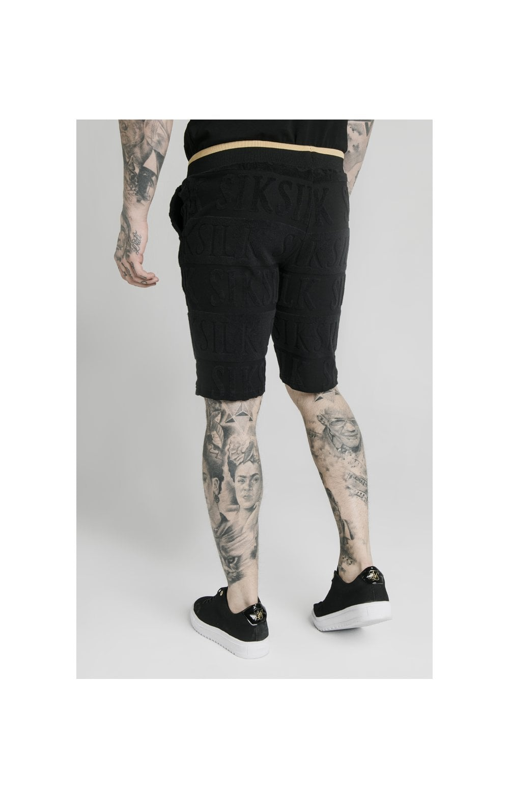 Load image into Gallery viewer, SikSilk Inverse Gym Shorts - Black (2)