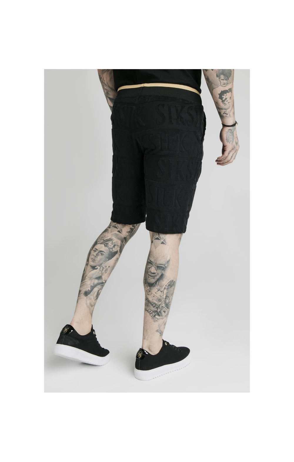 SikSilk Inverse Gym Shorts - Black (3)